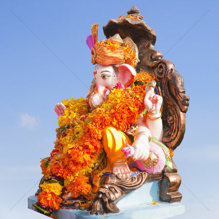 God : Close-up of an idol of lord ganesha  mumbai  maharashtra  india