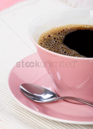 Refreshment : Close up of cup with coffee