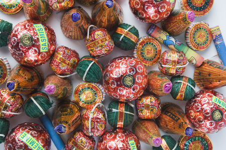 Diwali : Close-up of firecrackers
