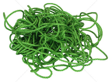 Rope : Close-up of tangled plastic rope