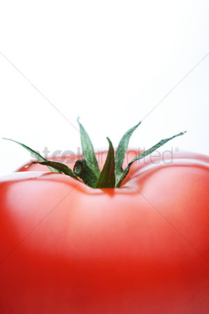 Leaf : Close-up of tomatoes on white background