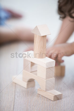 Czech republic : Close-up of wooden tower on hardwood floor