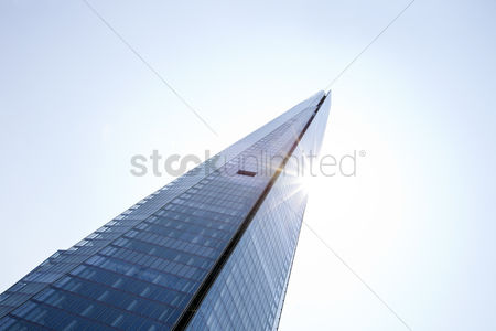 England : Close-up view of the shard