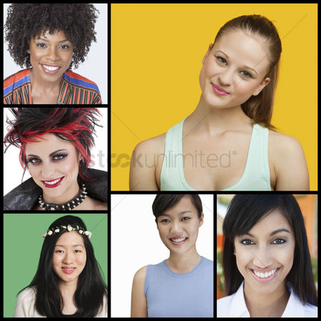 Variety : Collage of attractive women of different ethnicities