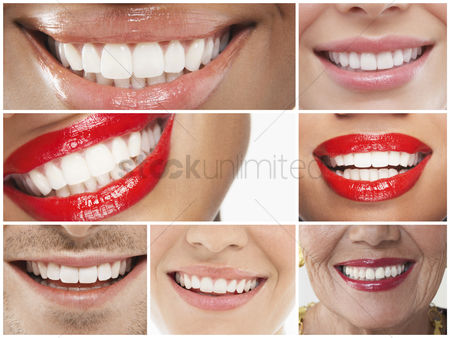 Smile : Collage of people smiling