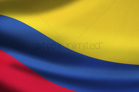 Match : Colombia flag waving