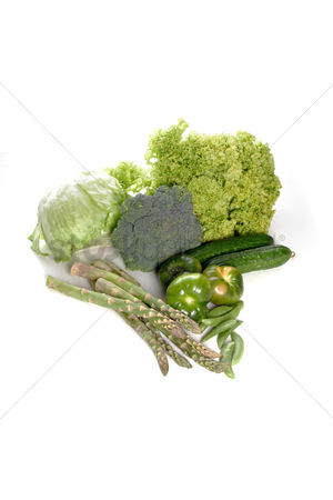 Collection : Composition of vegetables on white background