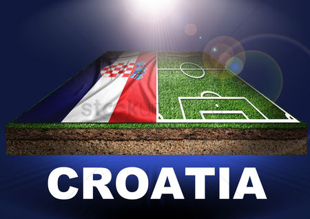 Pitch : Croatia with football field