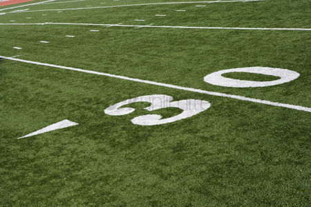 Pitch : Detail of american football ground