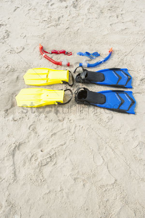Diving : Diving gear on the beach
