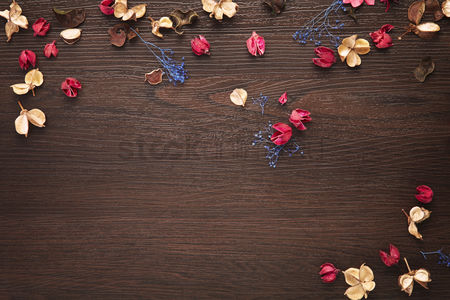 Flat : Dried flowers