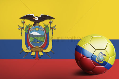 Nationality : Ecuador flag with soccer ball