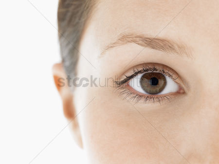 Vision : Eye of young woman close up