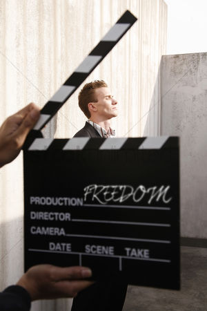 Composed : Filming a businessman