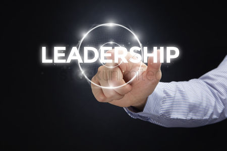 Leadership : Finger pointing at digital text leadership