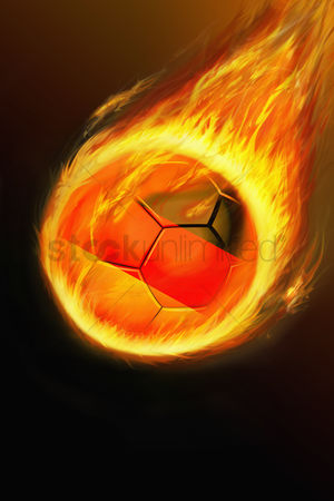 Nationality : Flaming germany soccer ball