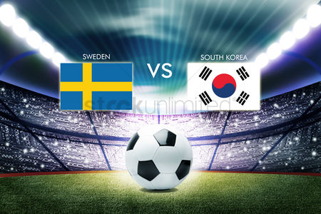 South korea : Football competition between sweden and south korea