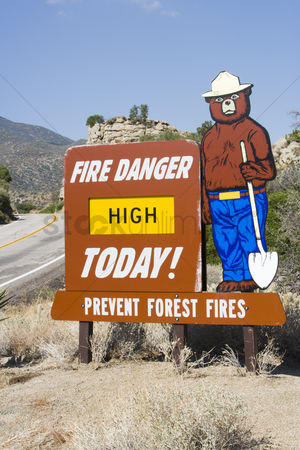 Cardboard cutout : Forest fire sign