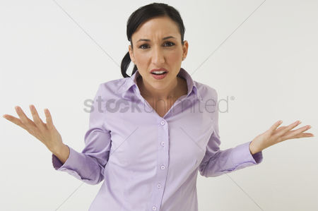 Posed : Frustrated woman