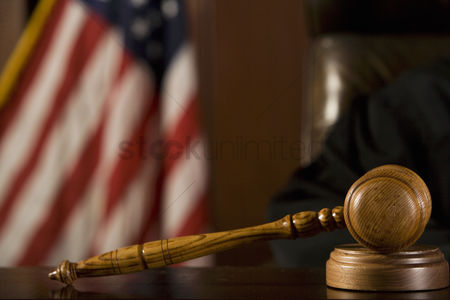 Us : Gavel lying in front of a judge