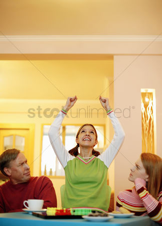 Excited : Girl celebrating her success