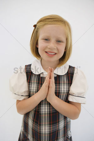 School children : Girl wearing school uniform
