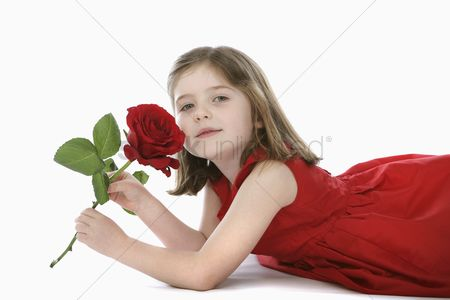 Spring : Girl with rose
