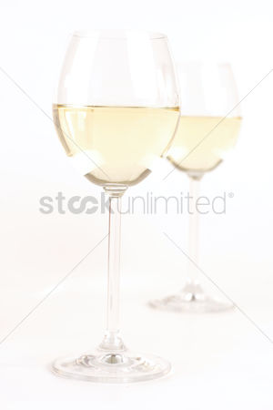 Celebration : Glass of white wine - studio shot