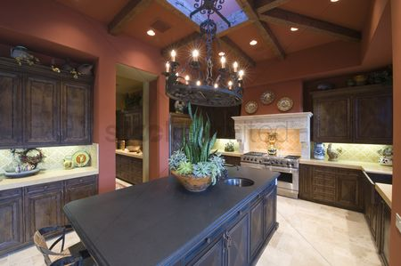 Houseplant : Granite worktop in palm springs kitchen