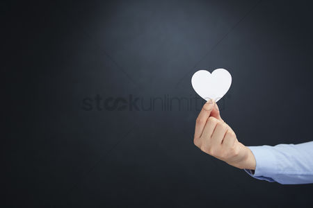 Love : Hand holding a heart