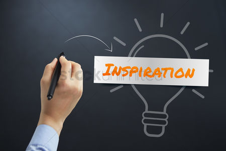 Motivation business : Hand illustrating inspiration concept