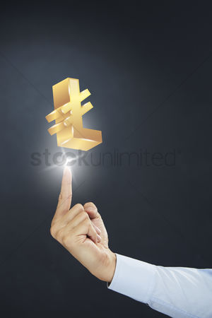 Sparkle : Hand presenting turkish lira currency symbol concept