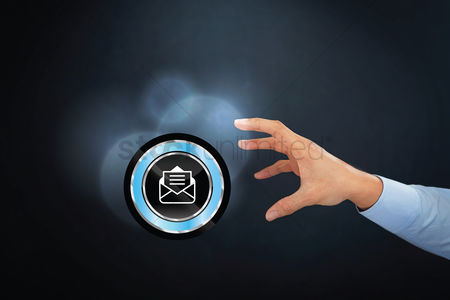 Try : Hand reaching for opened email icon