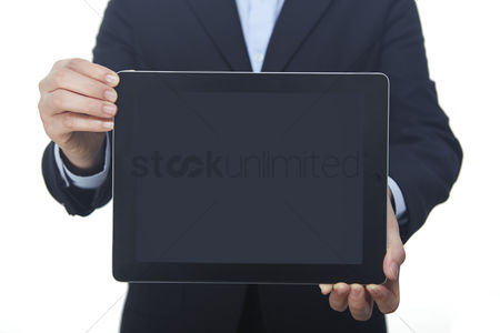Connections : Hands holding digital tablet