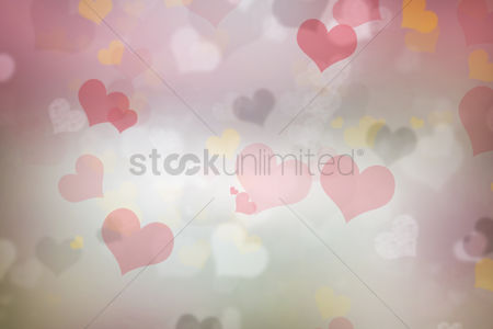 Beautiful : Heart bokeh background design