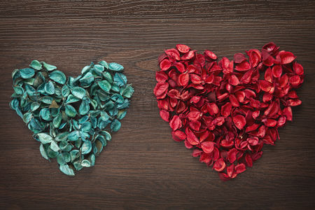 Heart shapes : Heart shaped dried flowers concept