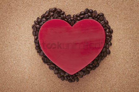 Heart shapes : Heart shaped with coffee beans