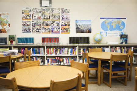 High school : High school library reading room
