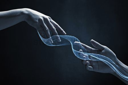 20 24 years : Human hands reaching out for each other