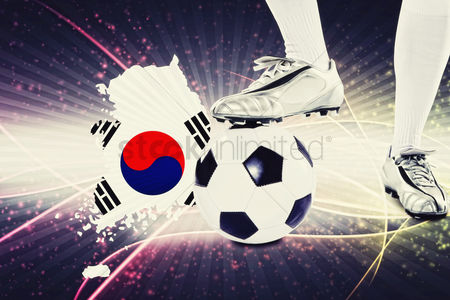 Korea republic : Korea republic soccer player ready for kick off