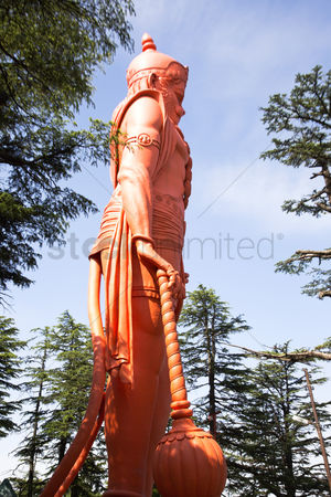 God : Lord hanuman statue at jakhoo temple  jakhoo hill  shimla  himachal pradesh  india