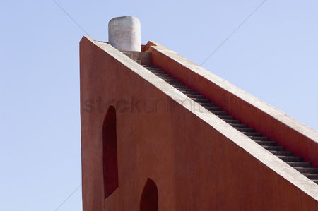 God : Low angle view of steps at a sundial  jantar mantar  new delhi  india