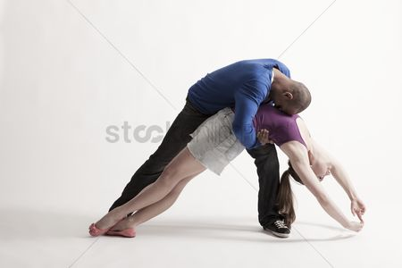 Dance : Man holds modern dance partner in position of loss