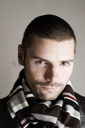 Composed : Man with scarf around his neck