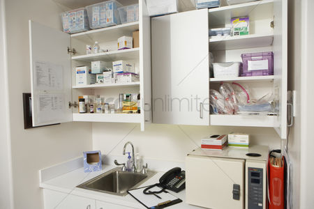 Medication : Medical cabinets in hospital