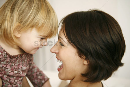 Lady : Mother and daughter having fun