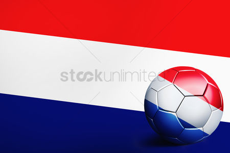 Nationality : Netherlands flag with soccer ball
