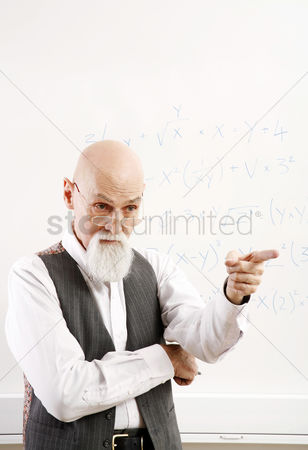 Teacher : Old professor pointing at his student