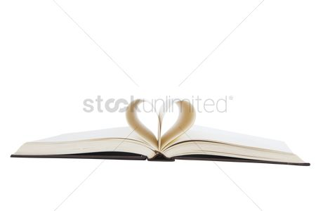 Knowledge : Pages formed a heart shape
