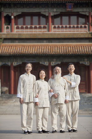 Forbidden : Portrait of chinese people with tai ji clothes